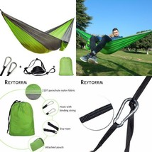 Single Double Hammock Adult Outdoor Backpacking Travel Survival Hunting ... - $16.69+