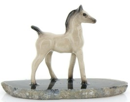 Hagen Reanker Miniature Horse Tiny Gray Colt on Base Stepping Stones #2745