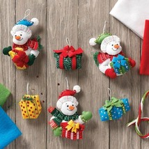 Bucilla 'Snowman With Presents Ornaments' Christmas Felt Stitchery Kit, ... - $22.99