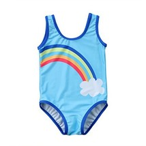 Toddler Baby Girls Rainbow Cloud Swimsuit Bathing Suit One Piece 1-2 Yea... - $12.12