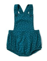 OLD NAVY TURQUOISE AQUA BLUE STAR BUBBLE SHORTALLS OVERALLS ROMPER GIRL ... - $12.86