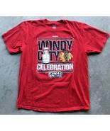 "Chicago Blackhawks ""2015 Stanley Cup Finals"" Reebok T-Shirt XL Red NHL - $9.15"