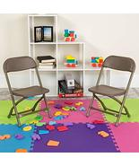 Flash Furniture Kids Brown Plastic Folding Chair - $17.43