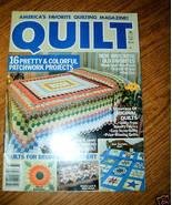 Quilt, America's Favorite Quilting Magazine! Fall 1987 - $3.00