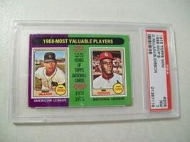 1968 MVP BASEBALL CARD #206 GRADED 7 NM TOPPS PSA 1975 DENNY MCLAIN BOB ... - $16.61