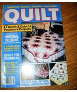 Quilt Americas Favorite Quilting Magazine Winter 1985 - $3.00