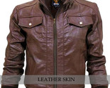 Brown justin beiber leather jacket front thumb155 crop