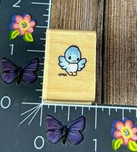 Stampendous Mini Baby Bird Rubber Stamp 1996 Precious Moments Wood #M75 - $8.41