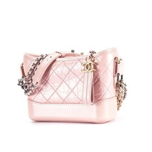 BRAND NEW AUTH Chanel 2019 IRIDESCENT CALFSKIN Pink Small Gabrielle Hobo Bag   image 2