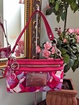 Coach Wristlet Poppy Bag Kaleidoscope Pink Scarf Print 43687 $98 B13 - $64.34