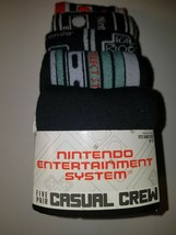 Nintendo mens casual crew socks design set two new in package 5 pairs  - $18.95