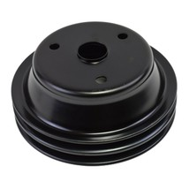 Crankshaft Pulley Double-Groove LWP Long Water Pump For Chevy SBC 262 350 400 image 2