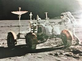 Vintage Photo Print Astronaut at Irwin Rover Mount Hadley NASA Space Col... - $21.53
