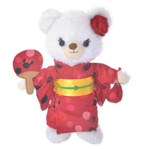 Disney Store Japan Unibearsity Plush Yukata Costume Red Polka Dot Maiko ... - $71.28