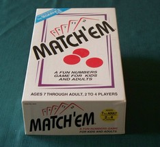 Match'em Card Game by Jax Ltd, 1996, Unused - $9.50