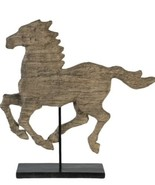 A&B Home Natural Wood-Like Horse Figurine Home Decor Accent Sculptural P... - $70.13