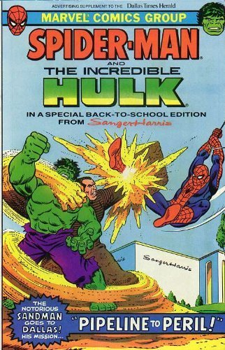 Spider Man and The Incredible Hulk Pipeline to Peril Sanger Harris 1981 Dallas