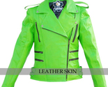 Green brando leather jacket front thumb155 crop