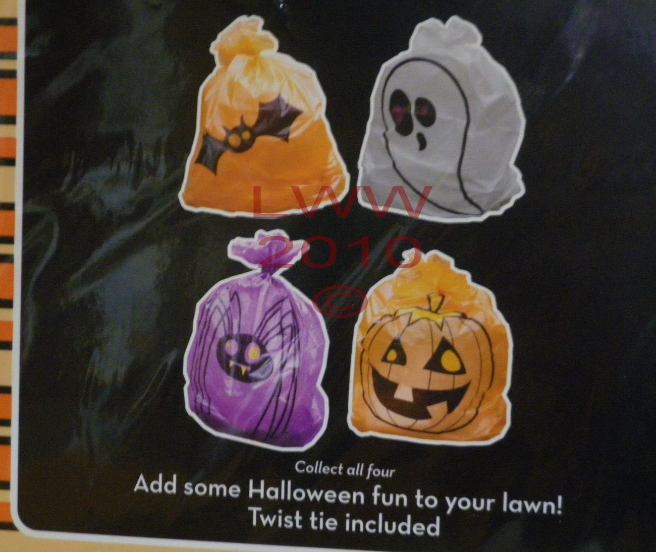 Pumpkin Jack-o-lantern Halloween Lawn Leaf Bag