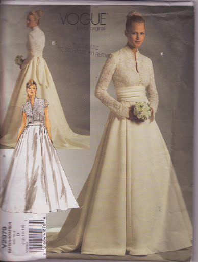 Vogue 2979, Wedding Dress, Pattern 2979, Size 12-14-16, Lined Dresses, Bodice