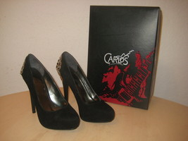 Carlos Santana Shoes Size 5.5 M Womens New Lust B3857L2001 Black Suede P... - $98.01