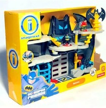 Fisher Price DC Super Friends Batman Imaginext Batcave Batman Bat-Bike R... - $91.95