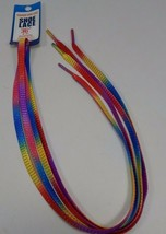 """Rainbow Colored 36"""" Shoe Laces Red Yellow Long Enough For 5 Pairs of eyelets"""