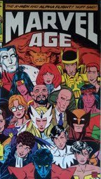 The Official Marvel News Magazine Marvel Age # 32 November 1985 X-Men on Cove...