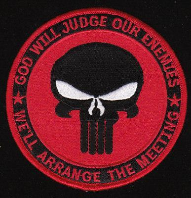 Primary image for US Navy SEAL God Will Judge Military Patch Red