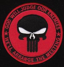 US Navy SEAL God Will Judge Military Patch Red - $9.99