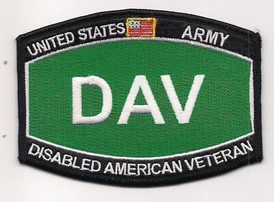 Primary image for US Army DAV Disabled American Veteran Patch