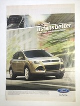 Ford Escape Print Ad 2013 New Yorker Magazine Car Advertising Photo - $9.95