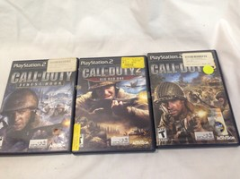 Call of Duty Finest Hour:  2 Big Red One  and 3 - PS2 Used Lot - $18.95