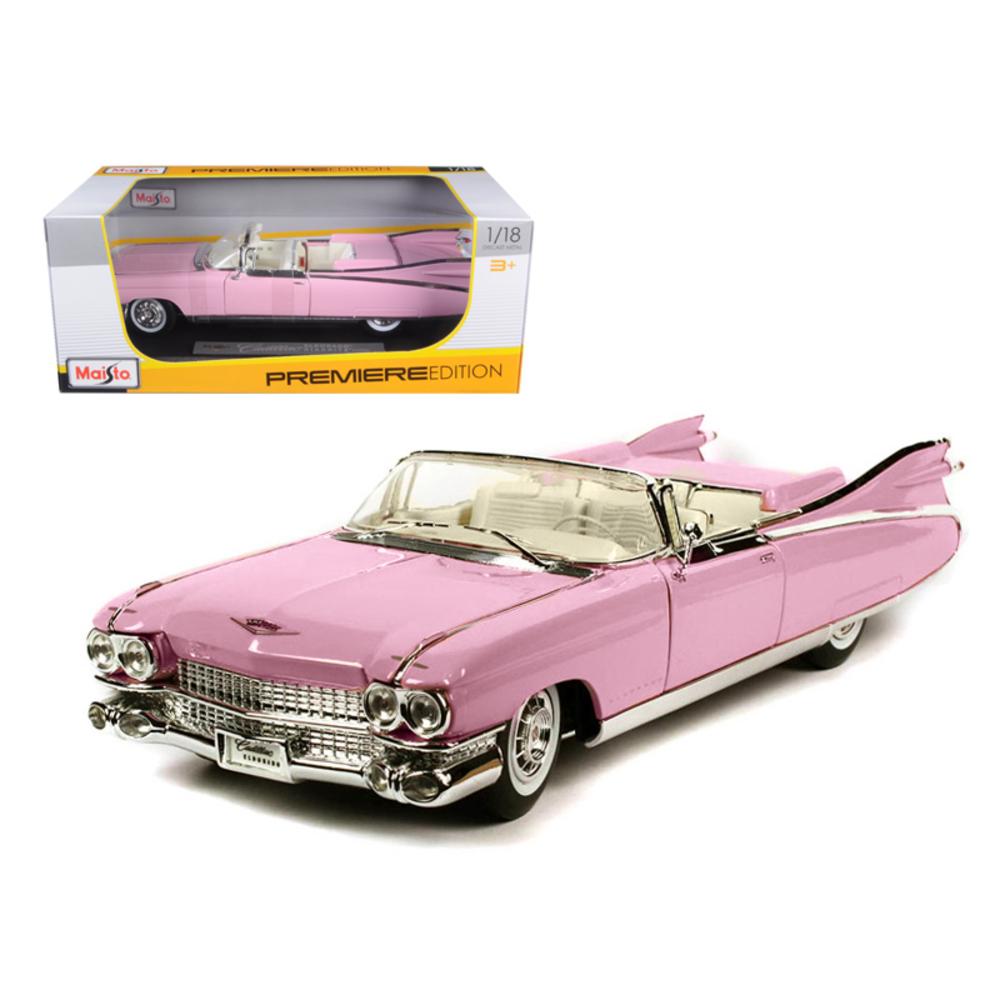 1959 Cadillac Eldorado Biarritz Pink 1/18 Diecast Model Car by Maisto 36813pi