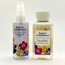Bath & Body Works HONEY WILDFLOWER Fragrance Mist Spray & Shower Gel Tra... - $14.80