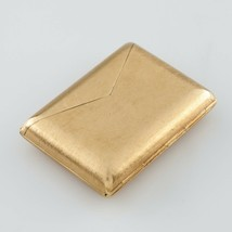 14k Yellow Gold Envelope Pocket Watch by Kior! Great Vintage Piece - $7,795.98