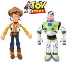 Disney Toy Story Woody and Buzz Lightyear Plush Doll Set A22143 - $39.00
