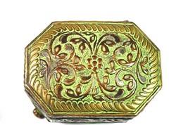 Royal Antique Old Vintage Brass Unique Design Flower Carving Trinket Jew... - €31,12 EUR