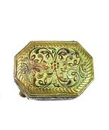 Royal Antique Old Vintage Brass Unique Design Flower Carving Trinket Jew... - $36.31