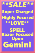 Powerful Love Spell Highly Charged Spell For Gemini Magick for love - $47.00