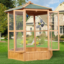 NEW! Bird Cage Parrot Birds Wooden Aviary Pets Canary US - $281.66