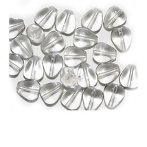 Crystal Flat Teardrop Czech Pressed Glass Beads 10mm (pack of 24) - $6.49