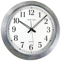 "Timekeeper 401ZWA 16"" Galvanized Metal Silver Wall Clock - $52.86"