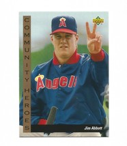 Jim Abbott 1993 Upper Deck Card #31 California Angels Free Shipping - $1.09