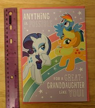 Hallmark Connections My Little Pony Birthday Card for Great-Granddaughte... - $6.00