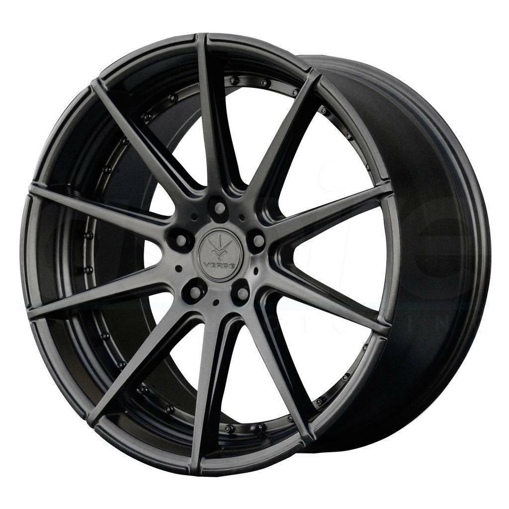 Primary image for 20x9 Verde V20 Insignia 5x112 20 Satin Black Wheels Rims Set(4)