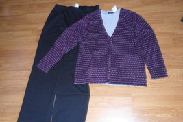 Silver Wear Pants size Large  Black & Equation Cardigan Size L NWT - $27.99