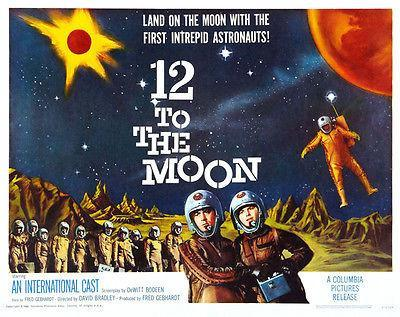 Primary image for 12 To The Moon - 1960 - Movie Poster