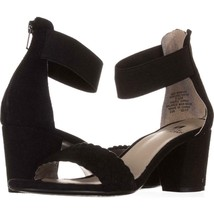 White Mountain Eryn Ankle Strap Sandals 551, Black, 5.5 US - $13.42
