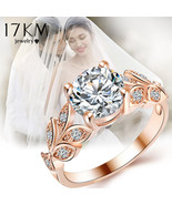 17KM® Fashion Leaf Flower Wedding Rings For Women Gold Silver Color Bijo... - $4.28